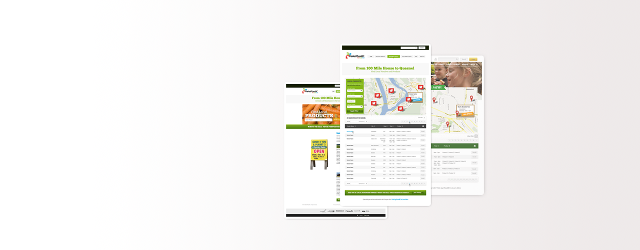 MarketPlaceBC site built by Webify Technology